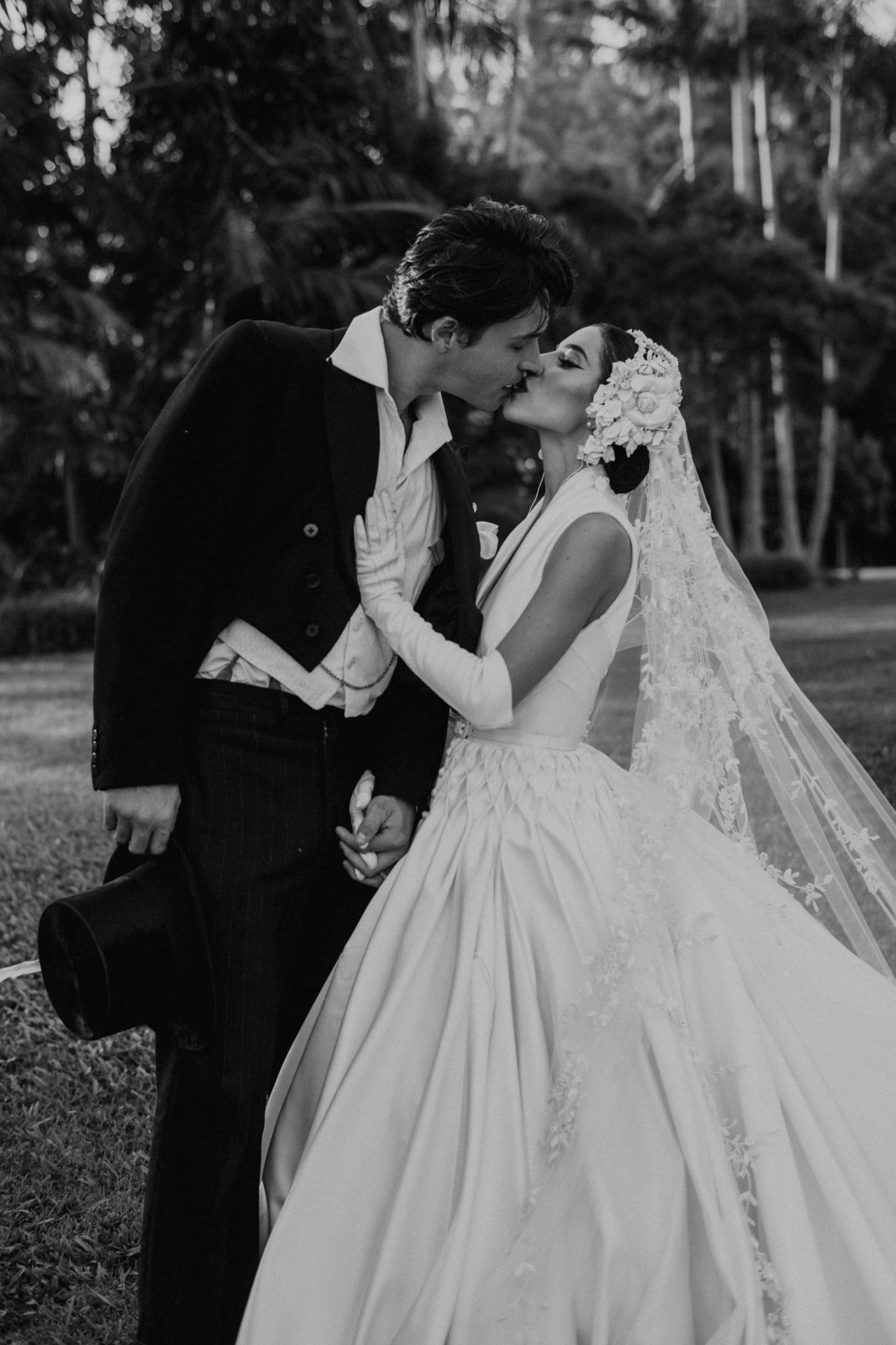 The Veronicas' Lisa Origliasso wore a J'Aton wedding dress inspired by royalty to her Sunshine Coast wedding