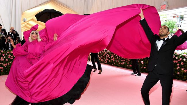 Here she goes... Picture: Dimitrios Kambouris/Getty Images for The Met Museum/Vogue