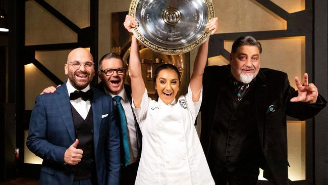 It was all smiles last night on the series 11 finale of MasterChef. Picture: Channel 10.