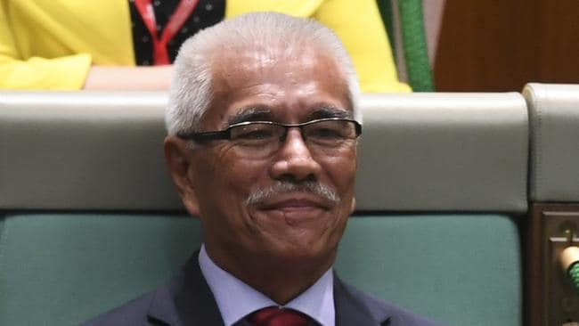 Former president of Kiribati, Anote Tong, was formally welcomed during Question Time yesterday. Picture: AAP