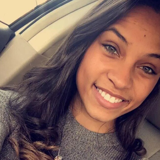 Chastity Patterson, 23, texted her dead father's number everyday for four years with life updates. Picture: Facebook