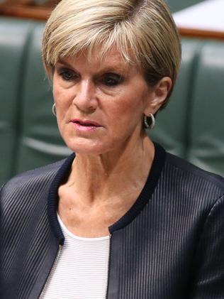 Julie Bishop revealed she made the plea.