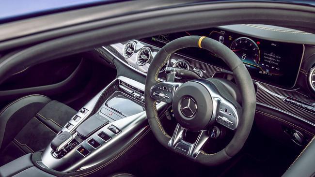 2019 Mercedes-AMG GT 63 S 4-door coupe.