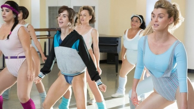 Alison Brie (Ruth) and Betty Gilpin (Debbie) in 'GLOW'. Photo: Netflix