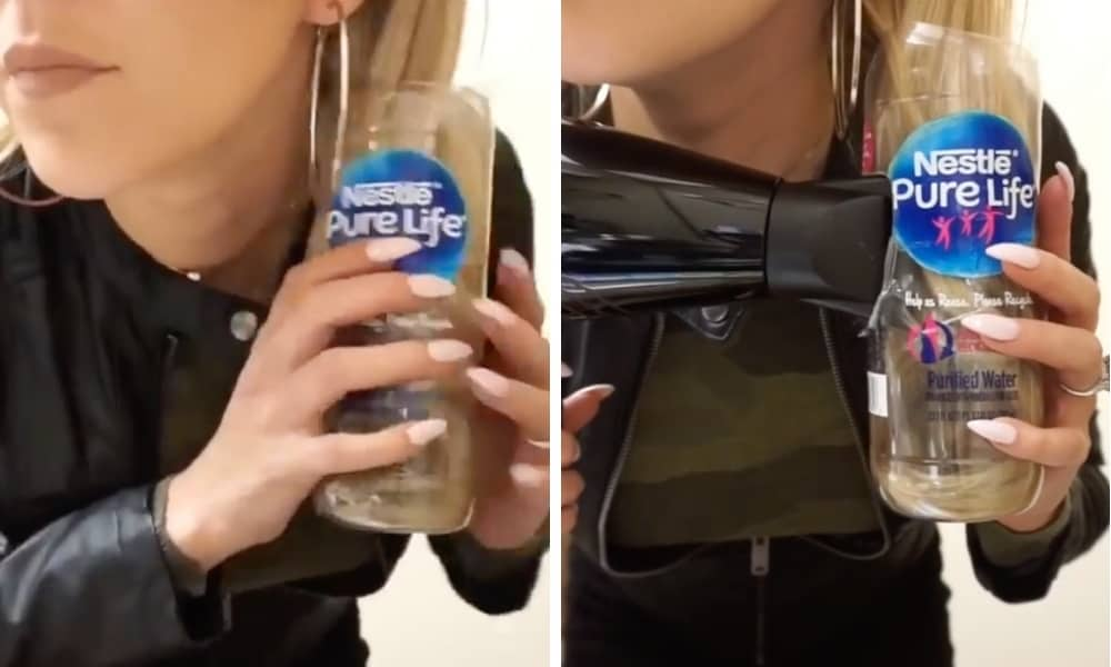 Bizarre water bottle hack promises perfect hair for your school run
