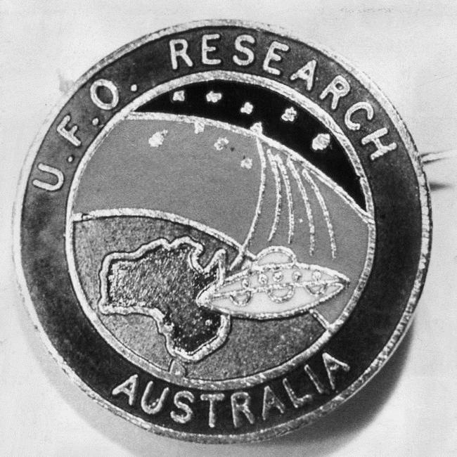 UFO Research Australia badge, 1968.
