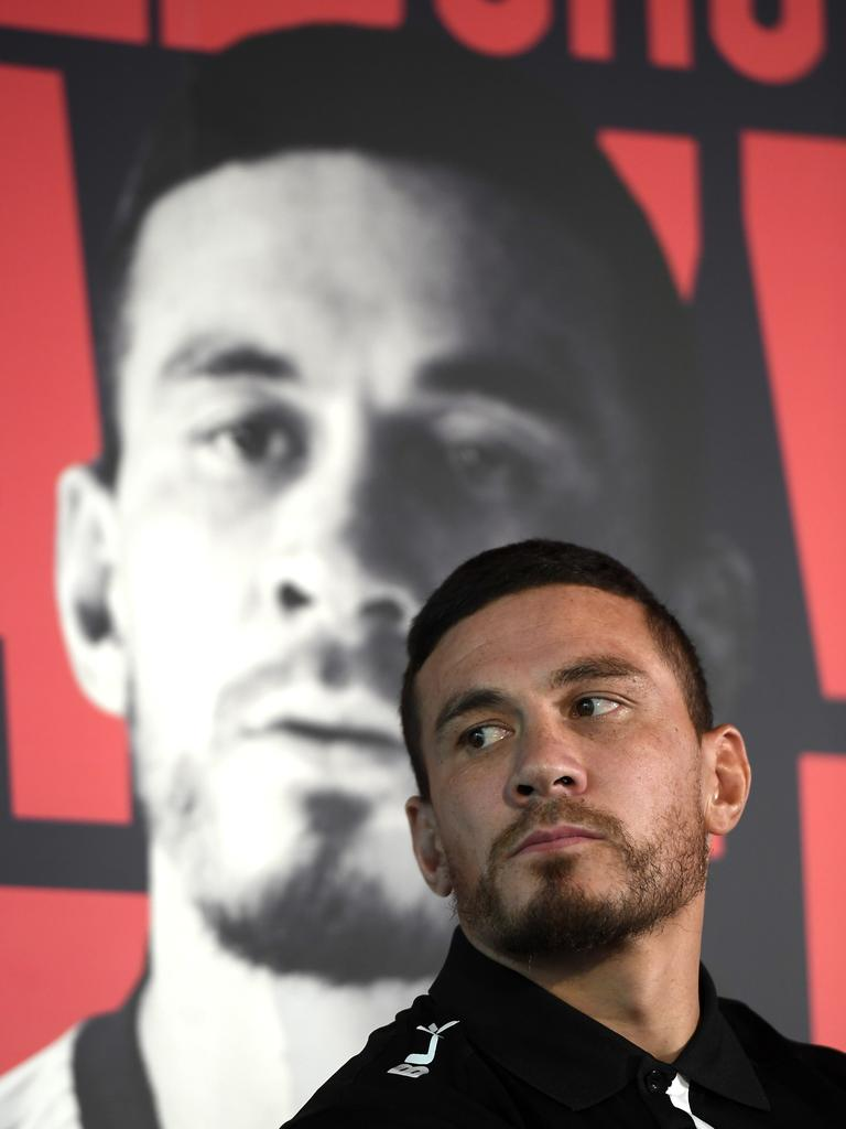 Sonny Bill Williams at the 2020 Super League launch at Emerald Headingley Stadium. (Photo by George Wood/Getty Images)