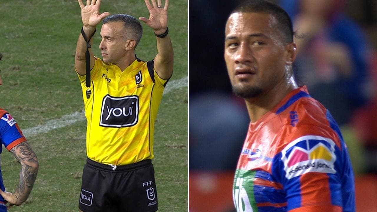 James Gavet was sent to the sin-bin for a late hit on Chris Smith.