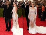 Kim Kardashian West and Kanye West at the Met Gala 2015. Picture: Getty