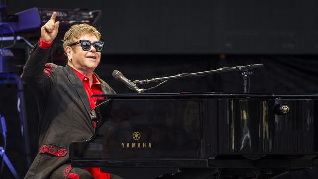Sir Elton John performed at Coldstream's Rochford Wines last year. Picture: Supplied