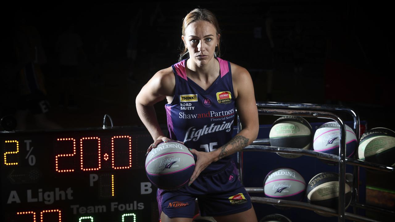Adelaide Lightning captain Nicole Seekamp recorded 20 assists in one game – a WNBL record. Picture: Sarah Reed