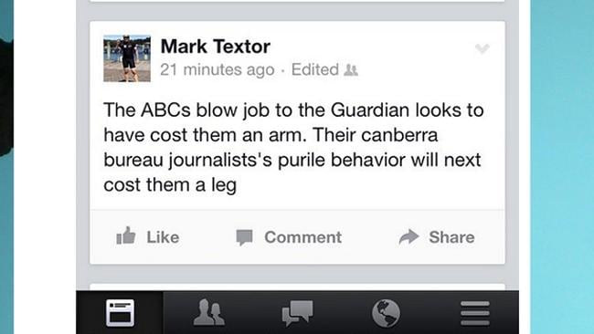 Mr Textor's comments. Picture: Twitter.