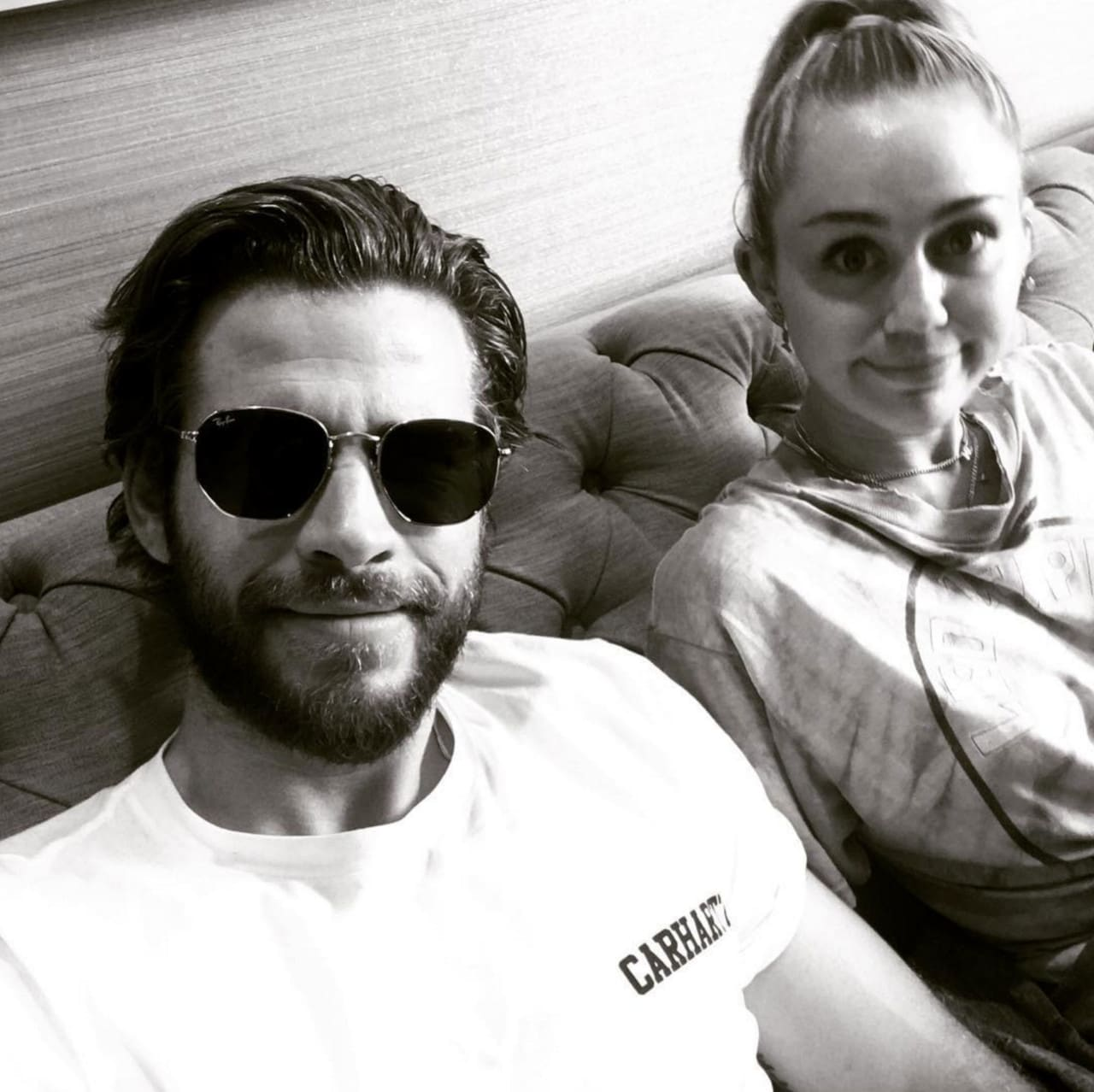 Liam Hemsworth Posts Unapproved Couple Selfie, Miley Cyrus -5962