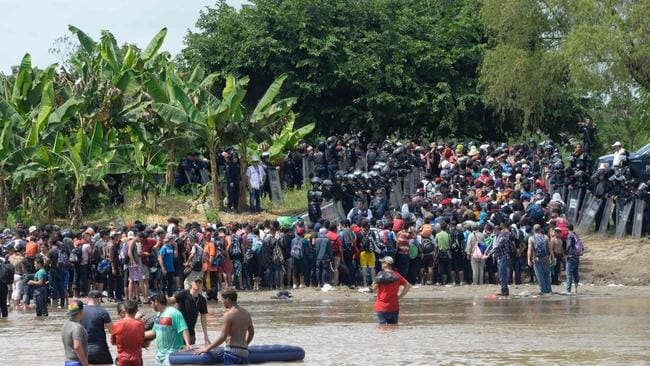 A caravan made up mostly of Hondurans, estimated to number between 3500 and 7000, who left their country in mid-October are now in southern Mexico. Picture: Johan Ordonez/AFP