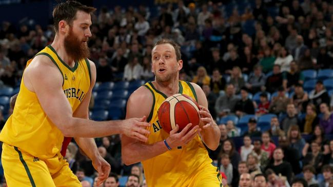 NBA talents Aron Baynes and Joe Ingles will play important roles for the Boomers. Picture: AAP
