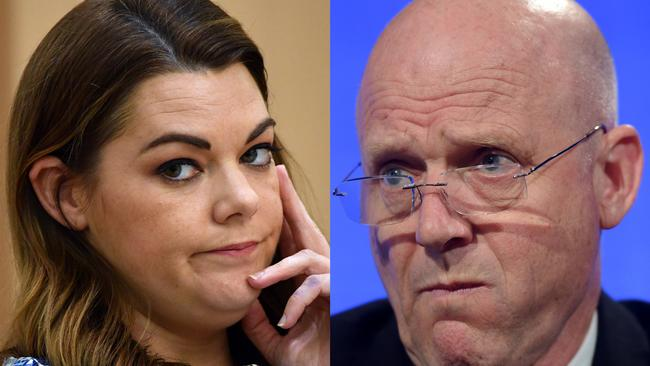 The alleged call took place in the same month Senator Sarah Hanson-Young copped unsavoury remarks from David Leyonhjelm. Picture: AAP