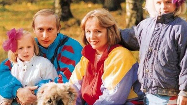 A rare photo of Vladimir Putin and his family. Picture: Supplied