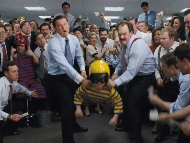 The scene from 2013's Wolf of Wall Street.