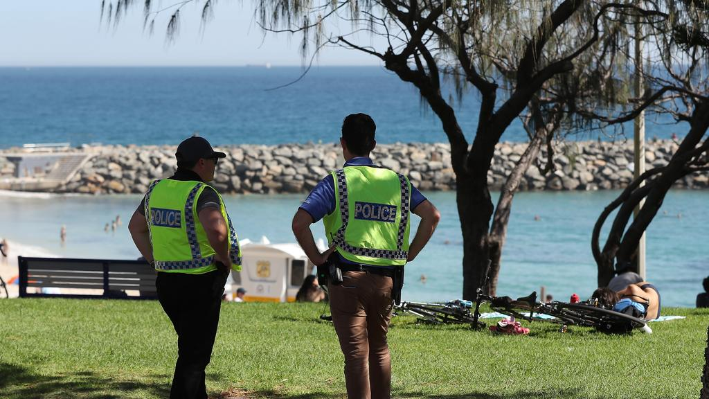 Police from the Self Quarantine Assurance Team conducted a check on the woman. Picture: Paul Kane/Getty Images