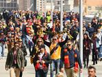 Fans arrive for the 2017 AFL Grand Final. Picture: Quinn Rooney/Getty Images