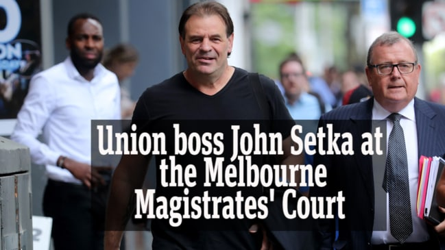 John Setka leaves court