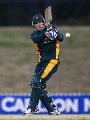 Tim Paine at the crease.