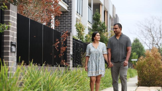 Ravi and Jessica Naidu said they valued a high green star rating. Picture: David Swift.