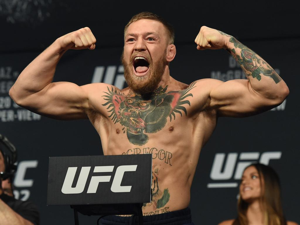 How McGregor looked at his last visit to welterweight. Picture: Ethan Miller/Getty Images