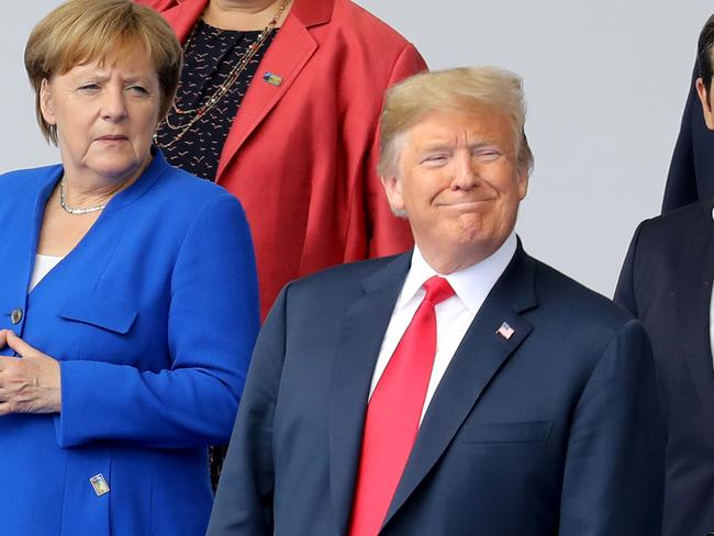 "Mr Trump repeatedly described Germany as ""captive to Russia"". Picture: AFP"
