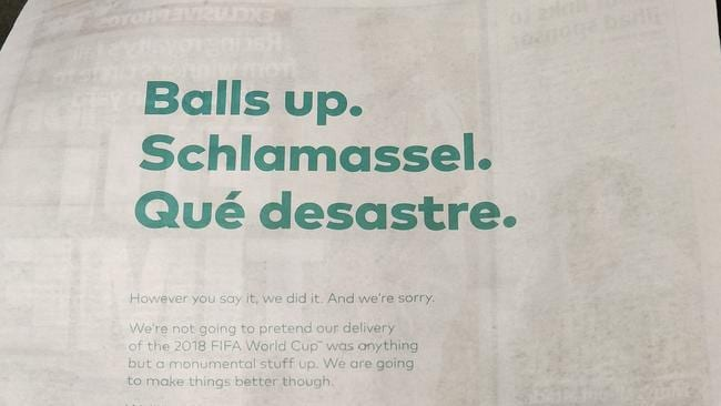 World Cup FIFA 2018: Optus issues grovelling apology to
