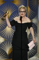 Patricia Arquette from Escape at Dannemora accepts the Best Performance by an Actress in a Limited Series or Motion Picture Made for Television award onstage during the 76th Annual Golden Globe Awards. Picture: Getty