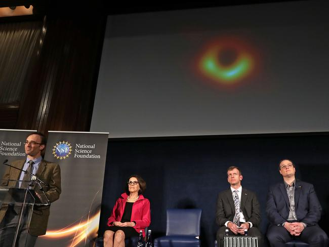 A network of eight radio observatories on six mountains and four continents, the EHT observed a black hole in Messier 87, a supergiant elliptical galaxy. Picture: AFP