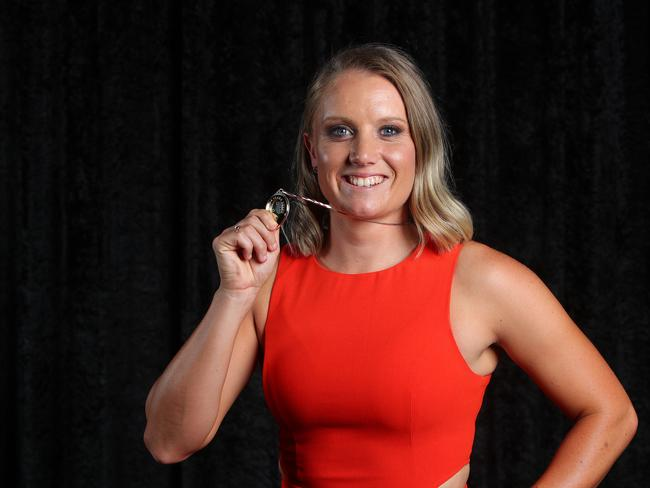 It was an Alyssa Healy clean sweep on her way to the Belinda Clark Award.