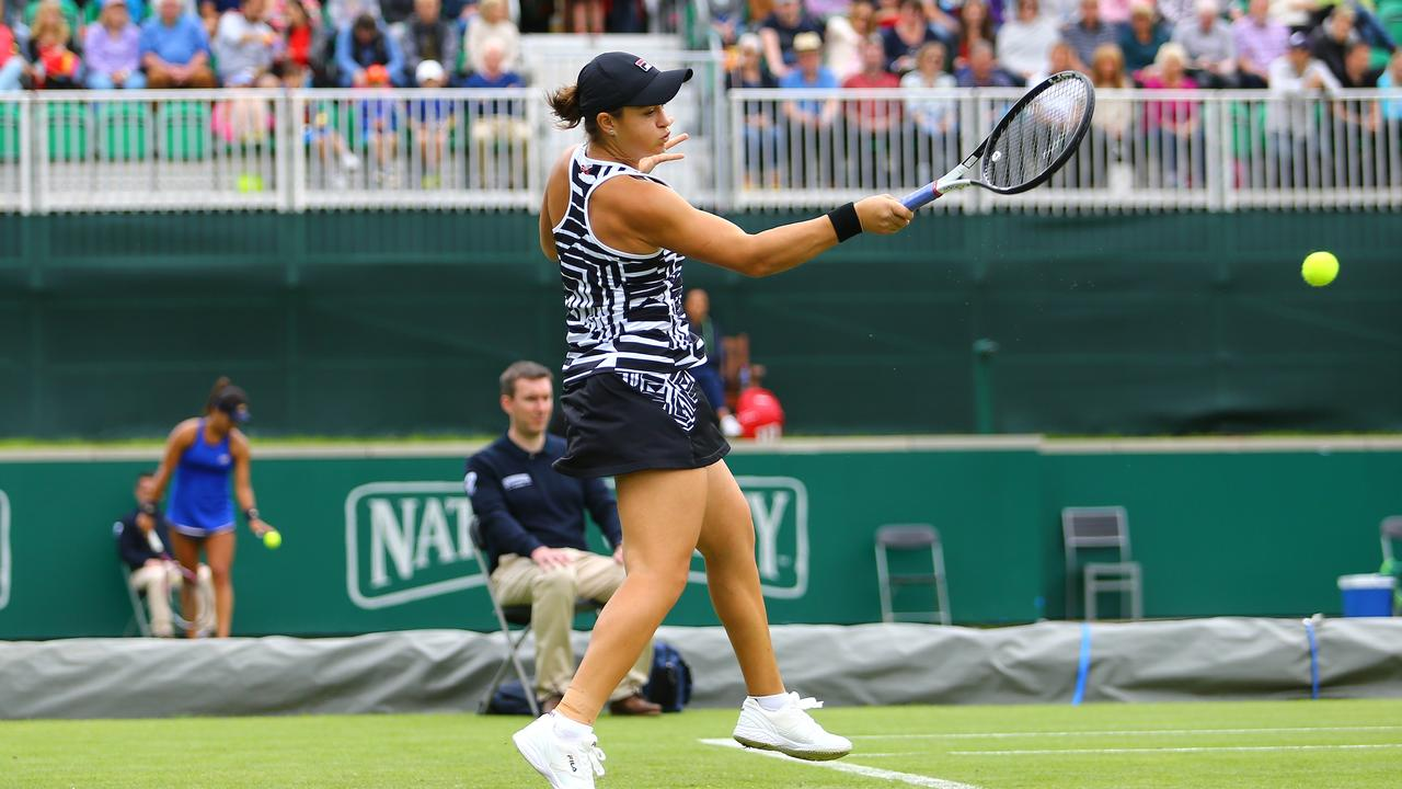Ashleigh Barty has started her grass campaign in preparation for Wimbledon, where Nick Kyrgios believes she can add to her incredible season. (Photo by Ashley Allen/Getty Images)