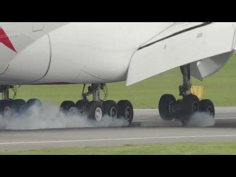 EXTREME: Close Up Footage of Airbus A380 Take Off and Landing April 22