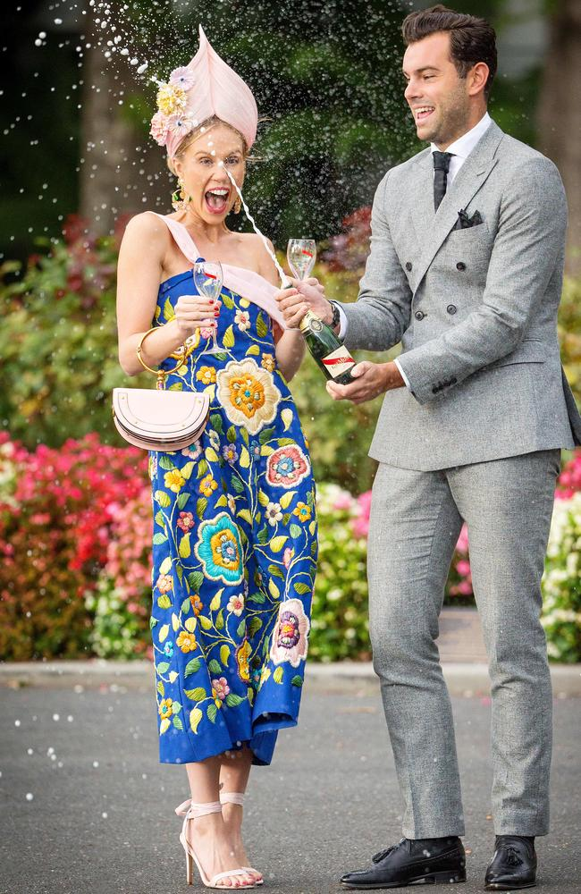 2017 Myer Fashions on the Field winners Crystal Kimber and Alexander Jordan. Picture: Mark Stewart