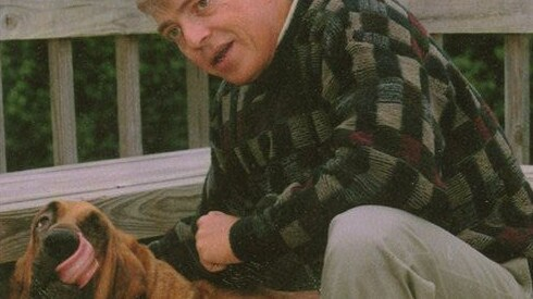 Gregg Miller with Buck, the dog that started a movement. Picture: Facebook