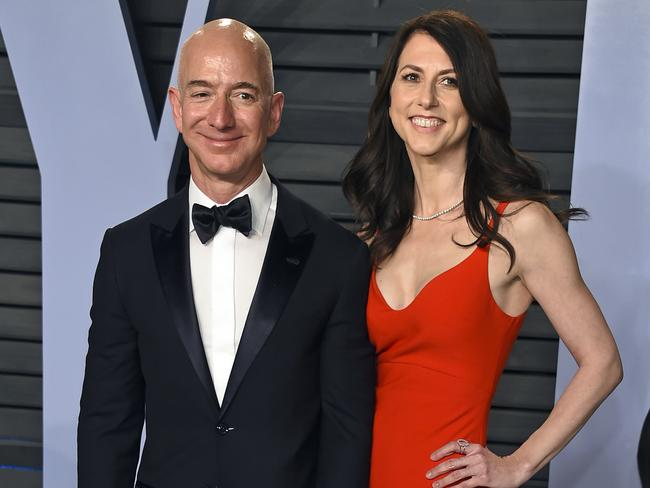 Jeff Bezos and wife MacKenzie Bezos only just announced their separation after 25 years of marriage. Photo by Evan Agostini/Invision/AP, File