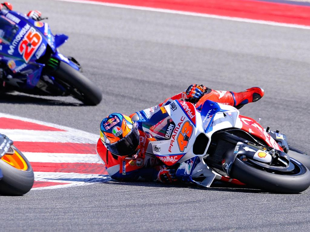 Jack Miller was running in fourth place at Misano until this crash on Lap 3.