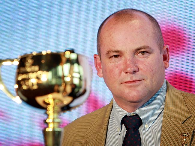 Peter Moody with the Melbourne Cup in 2011.