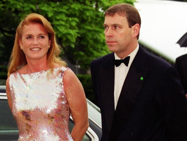 Prince Andrew, Duke of York, with former wife Sarah Ferguson both love Eugenie's fiance. Picture: Supplied