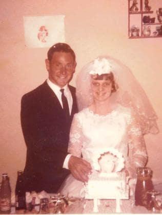 Colleen Adams with her husband Geoffrey.