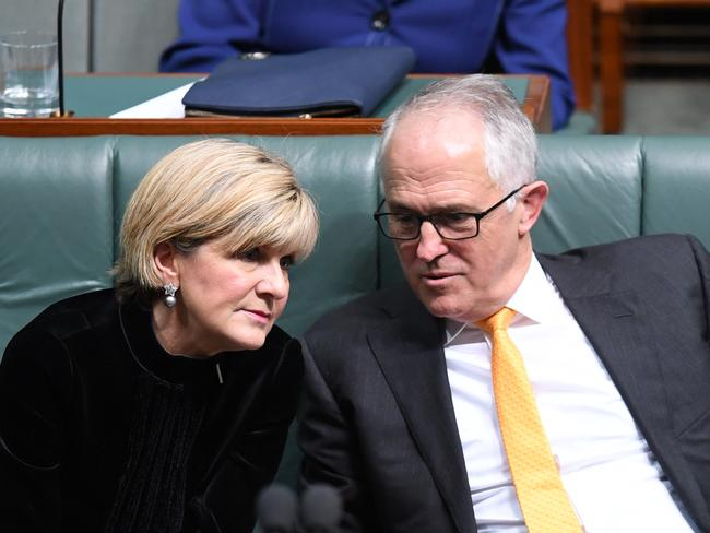 Prime Minister Malcolm Turnbull and Foreign Minister Julie Bishop attacked the Labor Party yesterday for 'plotting' with the NZ Labour Party. Picture: AAP