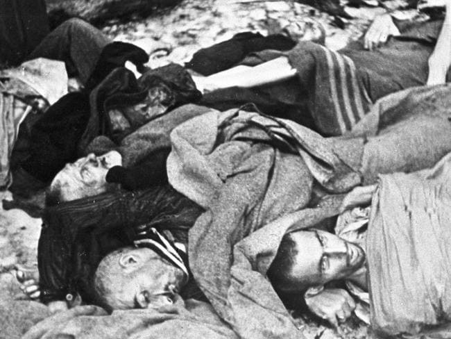 The bodies of Auschwitz prisoners.