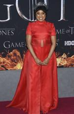 """Phoebe Robinson attends HBO's """"Game of Thrones"""" final season premiere at Radio City Music Hall on Wednesday, April 3, 2019, in New York. (Photo by Evan Agostini/Invision/AP)"""