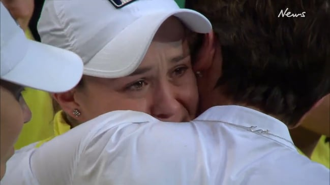 Ash Barty breaks down after Fed Cup loss