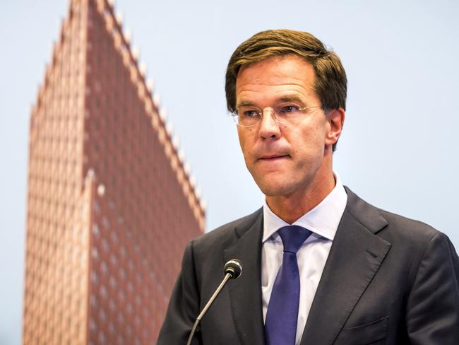 Called off recovery operation ... Dutch Prime Minister Mark Rutte. Picture: AFP Photo / Lex Van Lieshout