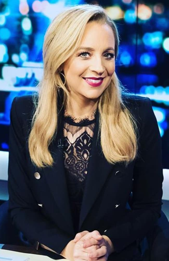 Carrie Bickmore has revealed the sneaky way she hid her bump on The Project. Picture: Instagram