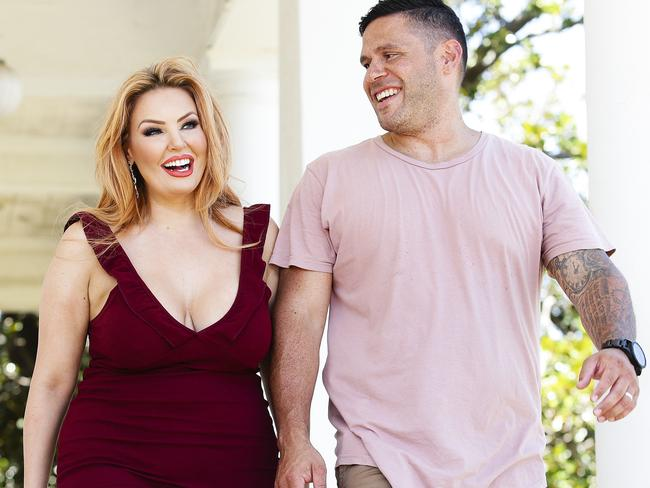 MAFS couple Telv Williams and Sarah Roza in Vaucluse, Sydney. Picture: Justin Lloyd.