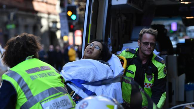 A 41-year-old woman was stabbed at around 2pm when the rampage began. Picture: AAP Image/Dean Lewins